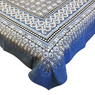 Sängöverkast blå